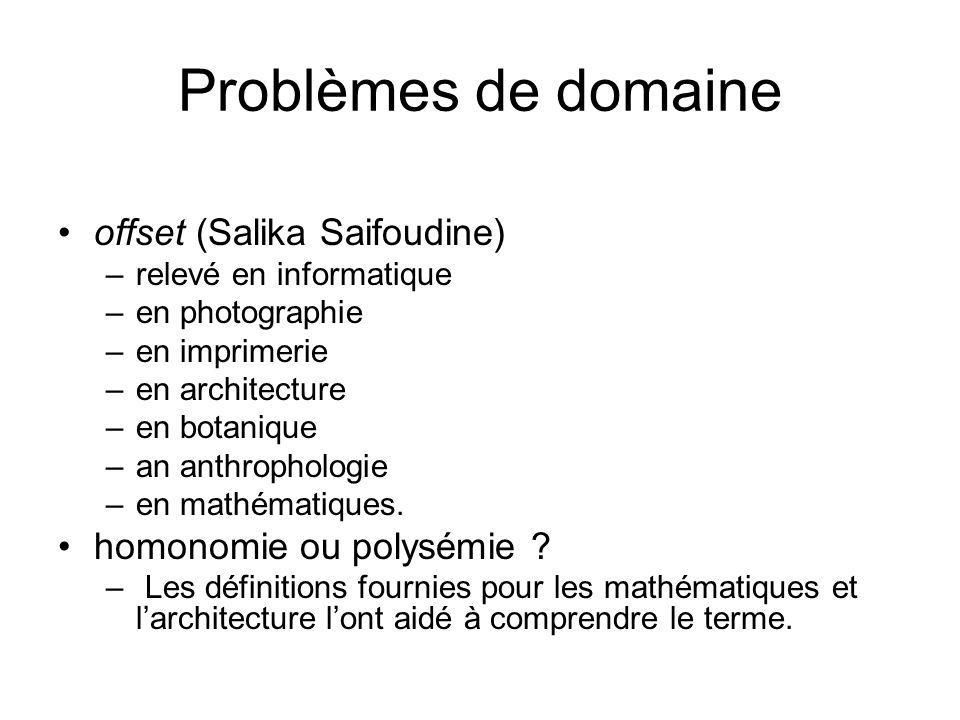 Problèmes de domaine offset (Salika Saifoudine)