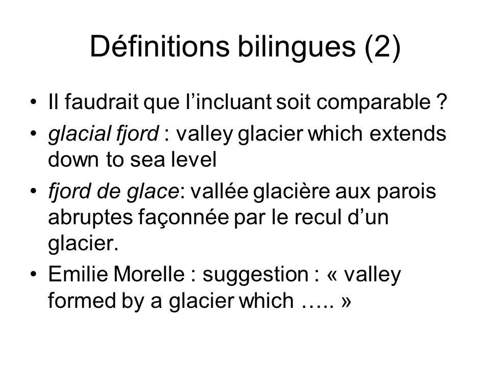 Définitions bilingues (2)