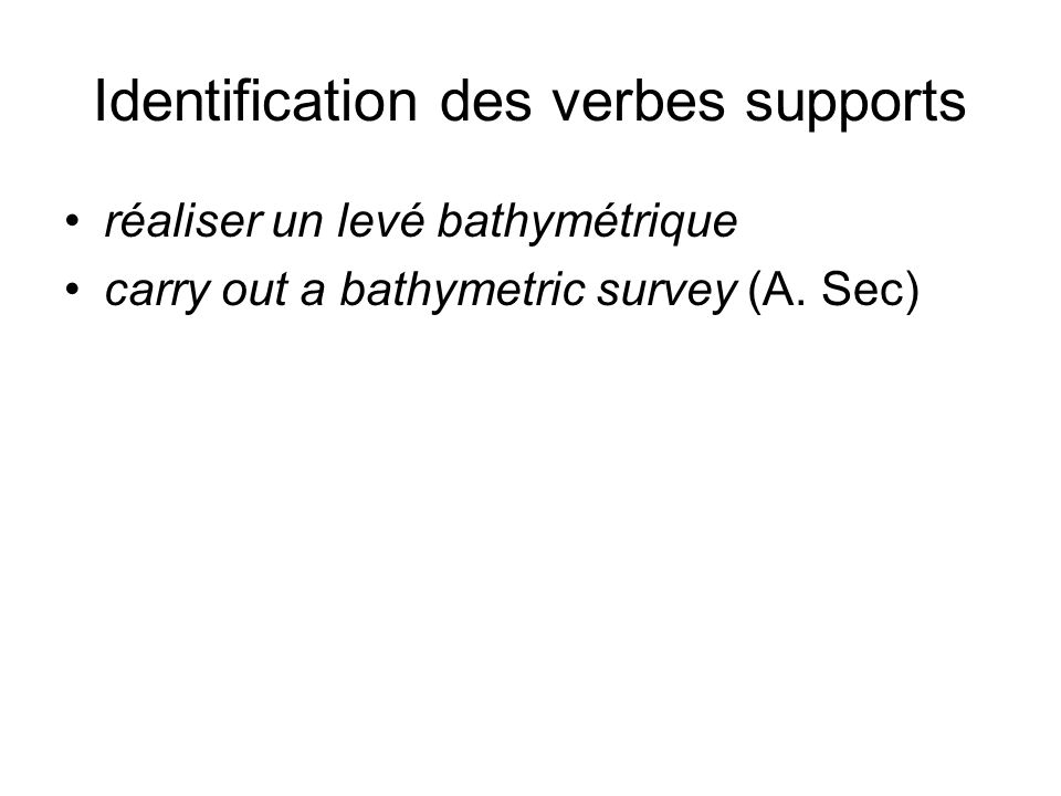 Identification des verbes supports