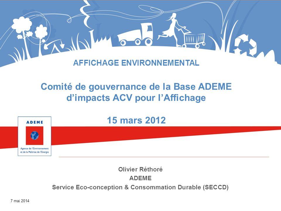 Comité de gouvernance de la Base ADEME d'impacts ACV pour l'Affichage