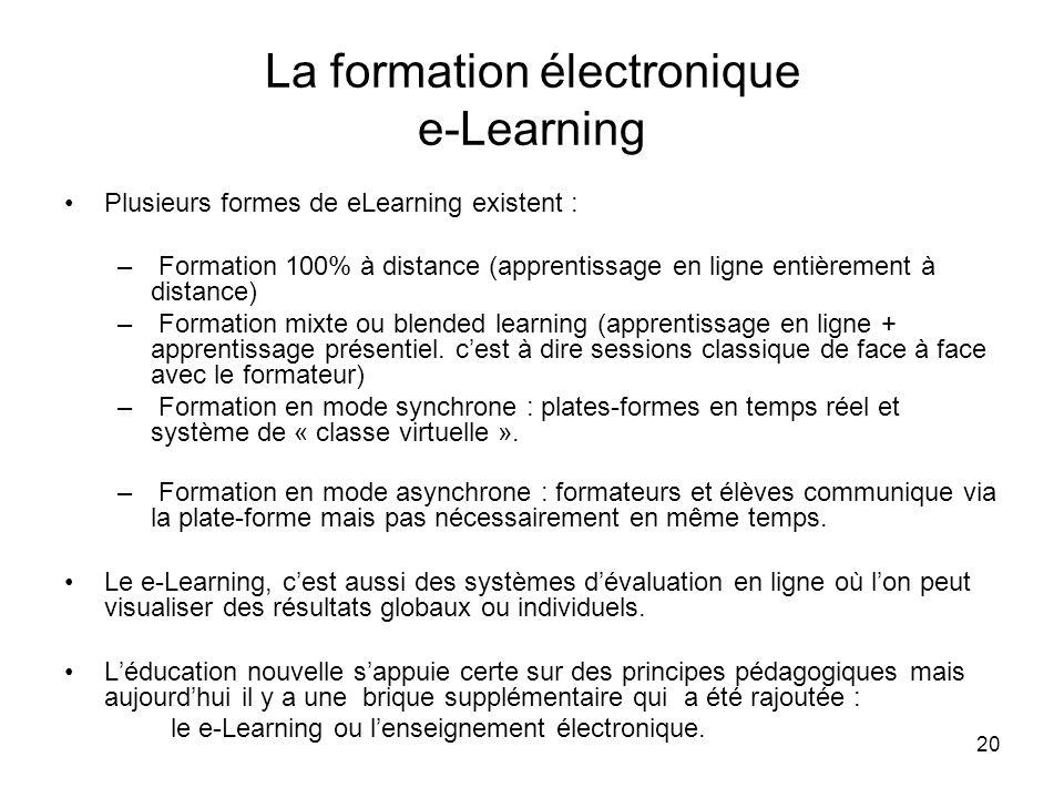 La formation électronique e-Learning