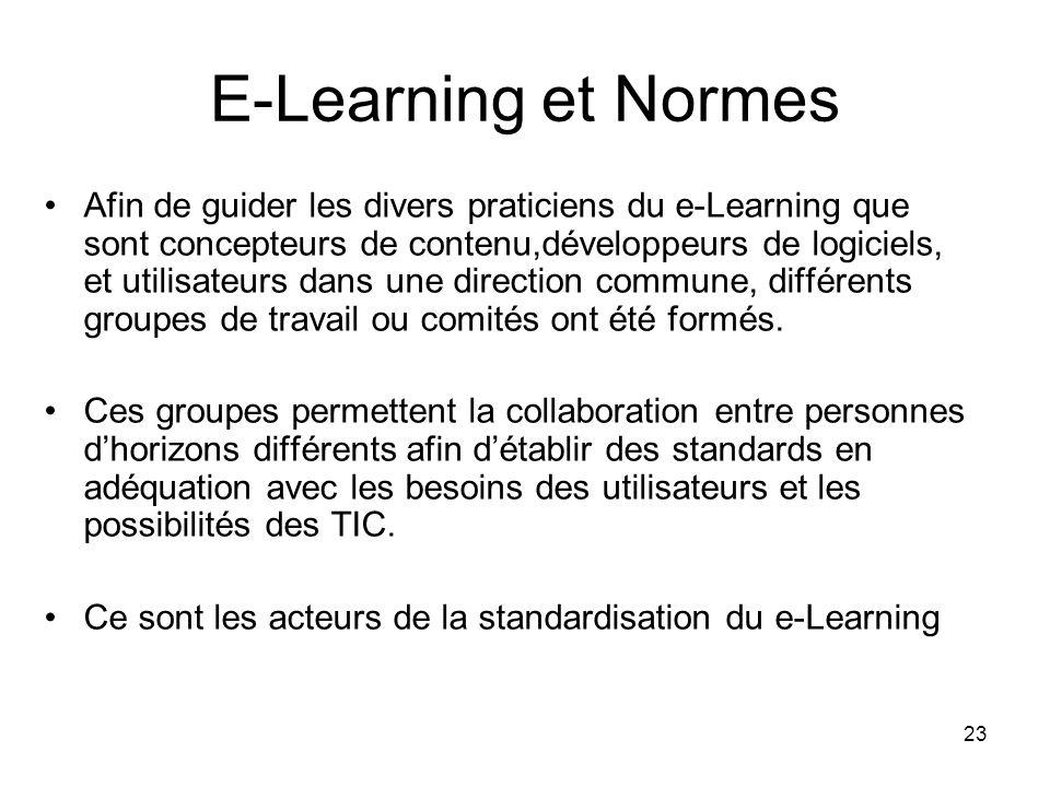 E-Learning et Normes