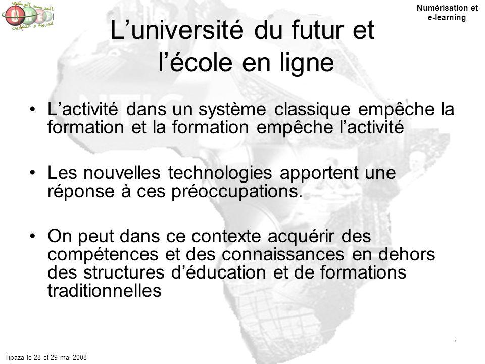 L'université du futur et l'école en ligne
