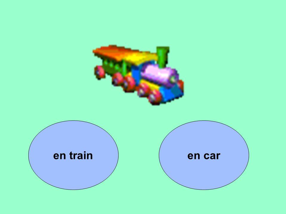 en train en car