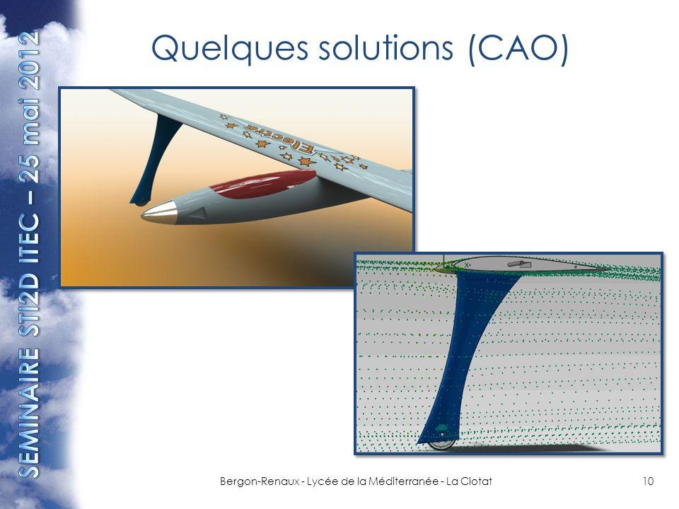 Quelques solutions (CAO)