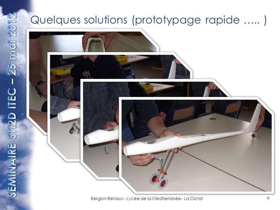 Quelques solutions (prototypage rapide ….. )