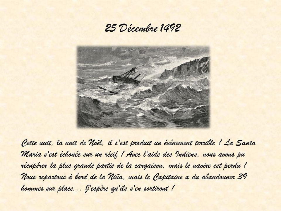 25 Décembre 1492