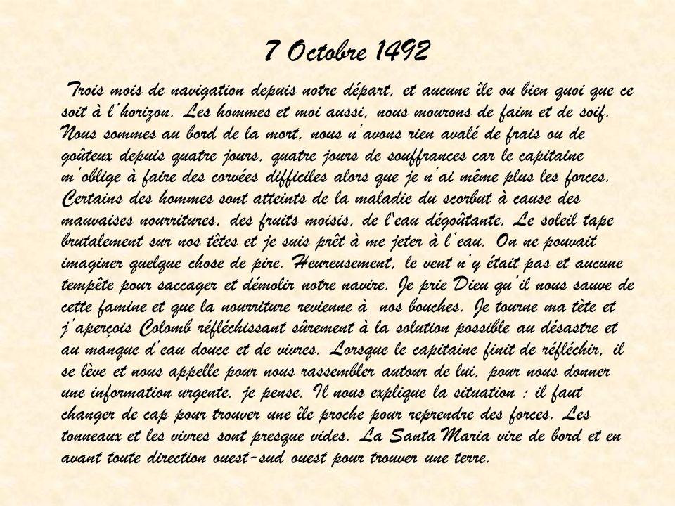 7 Octobre 1492