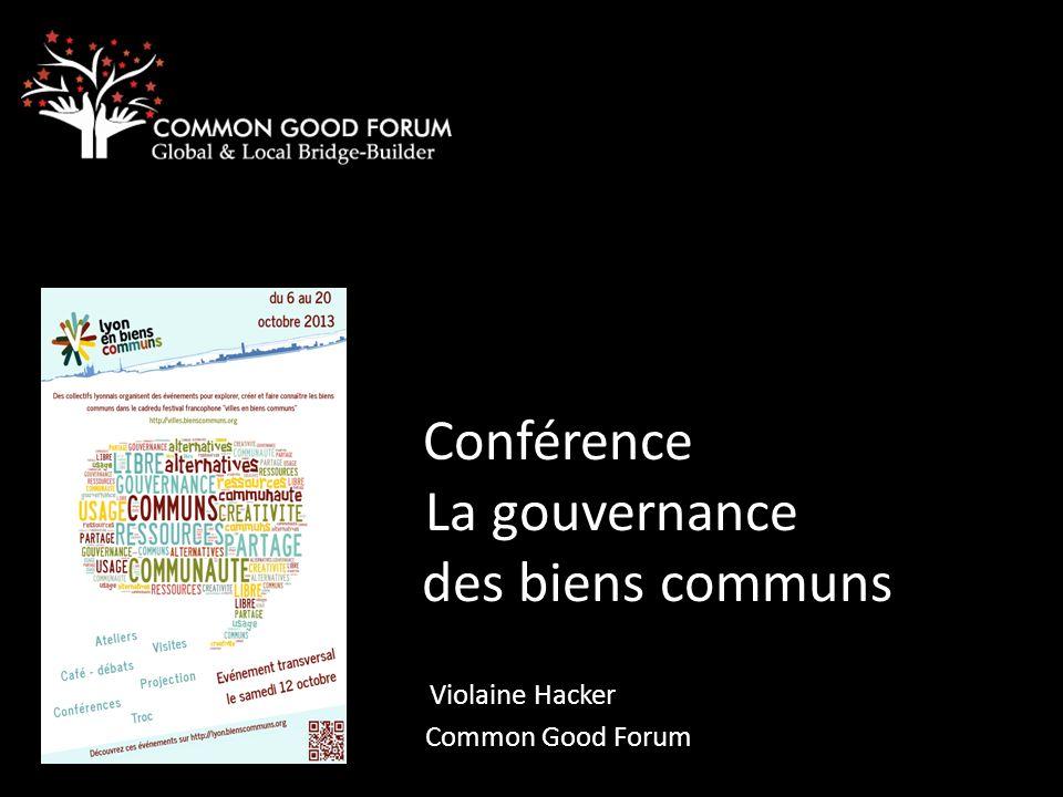 Conférence La gouvernance des biens communs