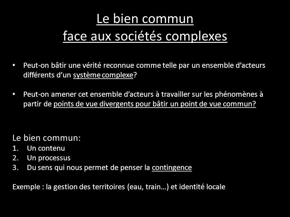 Le bien commun face aux sociétés complexes