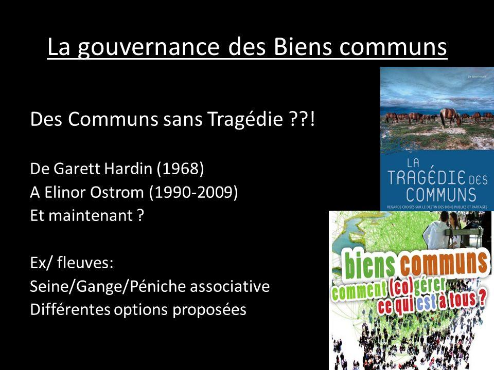 La gouvernance des Biens communs