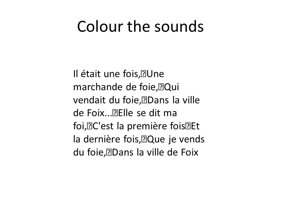 Colour the sounds