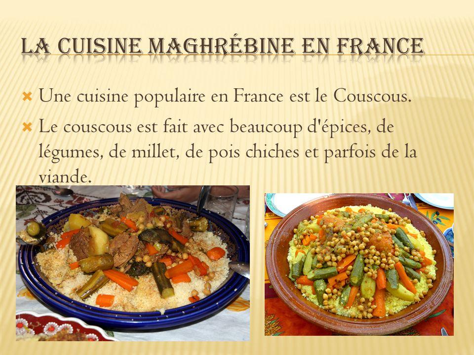 La cuisine Maghrébine en France