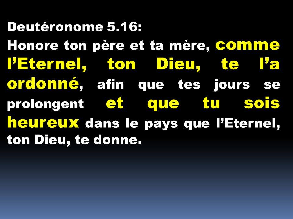 Deutéronome 5.16: