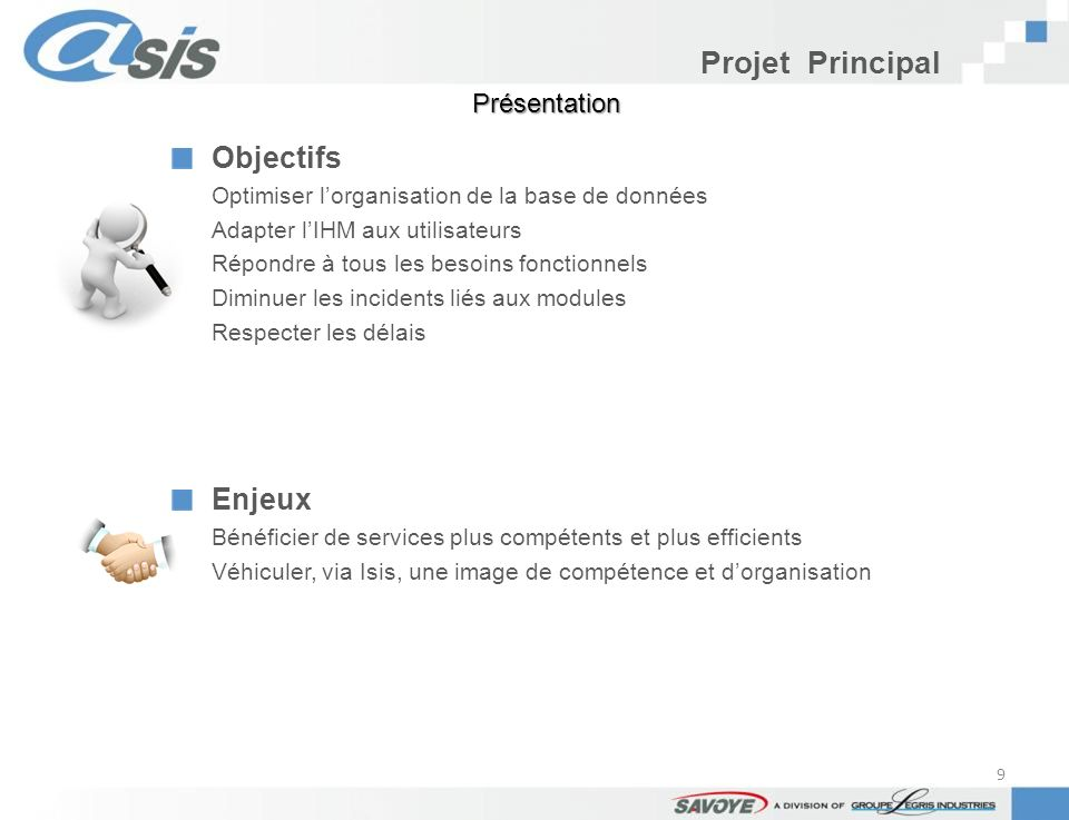 Projet Principal Objectifs Enjeux Présentation