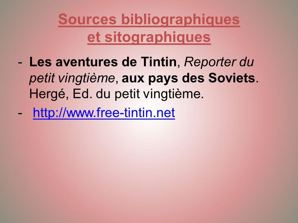 Sources bibliographiques et sitographiques