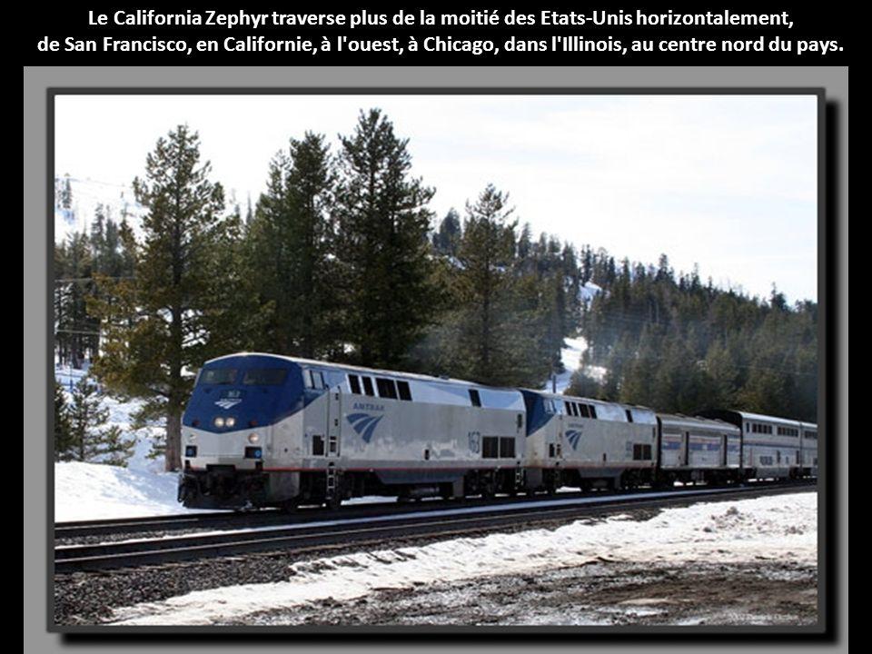 Le California Zephyr traverse plus de la moitié des Etats-Unis horizontalement,
