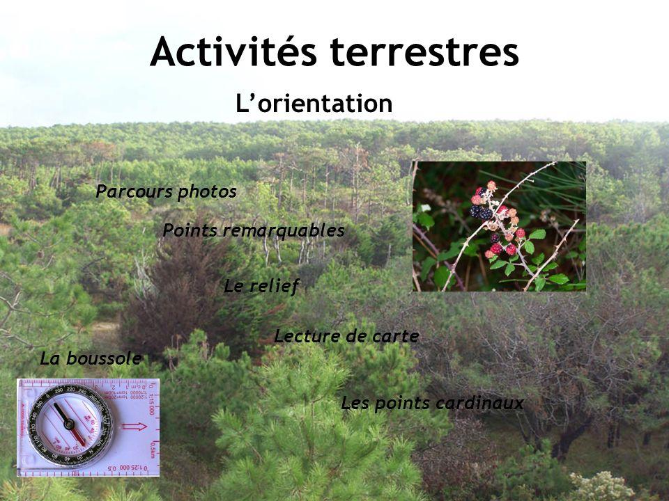 Activités terrestres L'orientation Parcours photos Points remarquables
