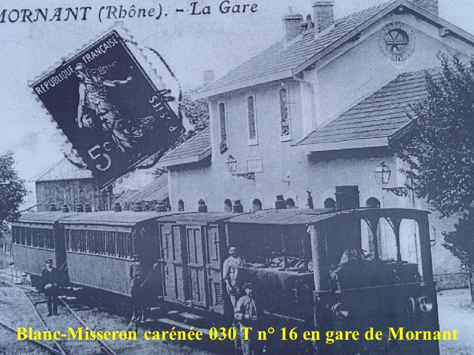 Blanc-Misseron carénée 030 T n° 16 en gare de Mornant