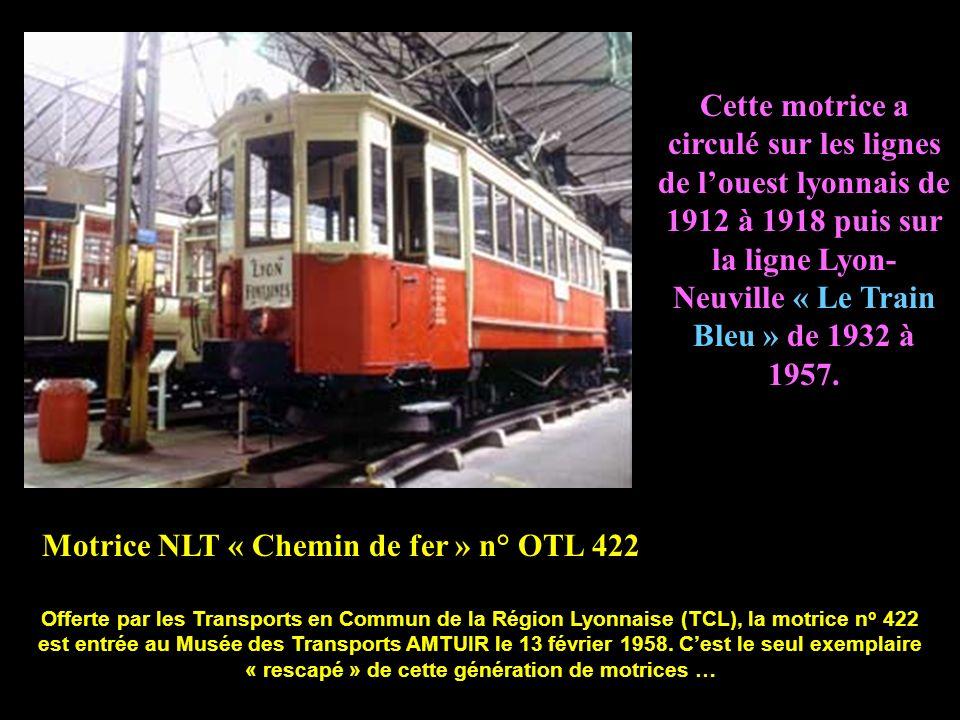 Motrice NLT « Chemin de fer » n° OTL 422