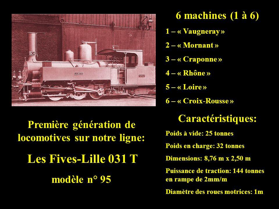 Première génération de locomotives sur notre ligne: