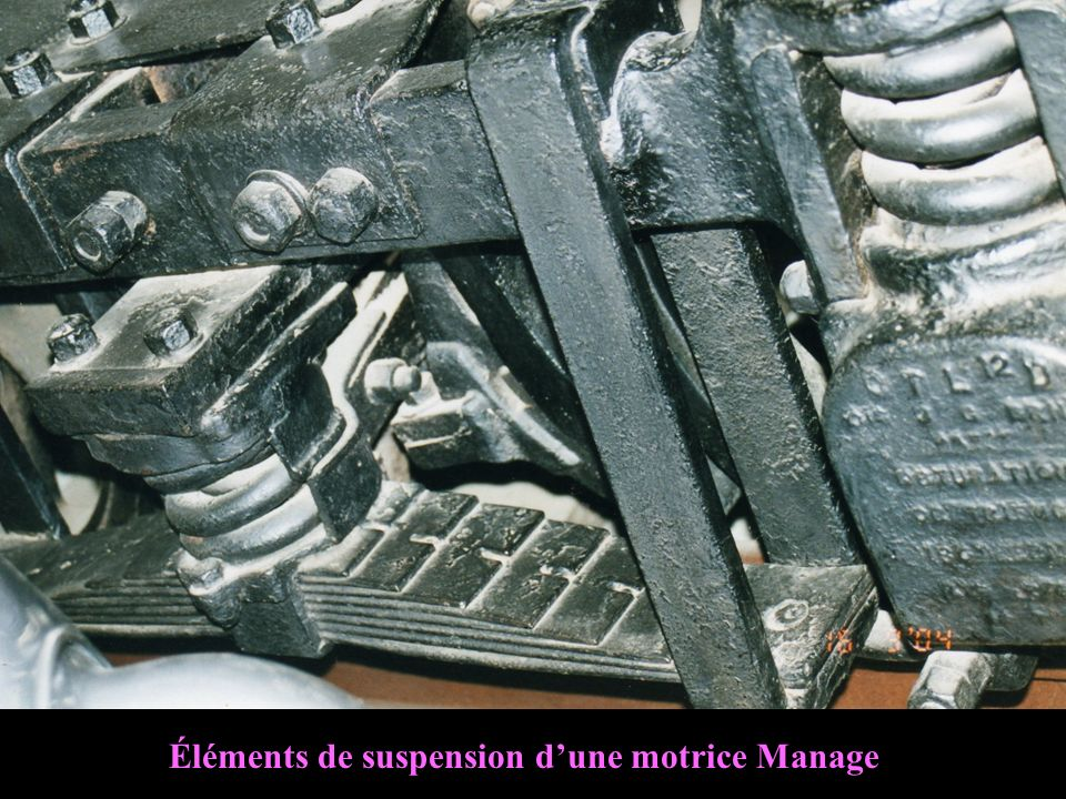 Éléments de suspension d'une motrice Manage