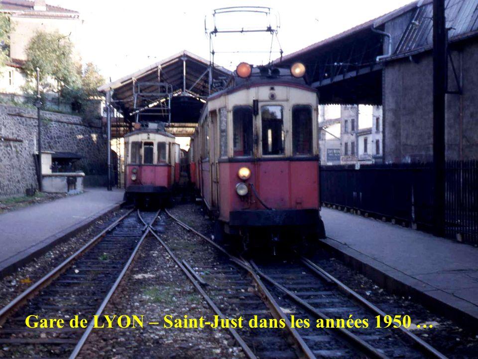 Gare de LYON – Saint-Just dans les années 1950 …