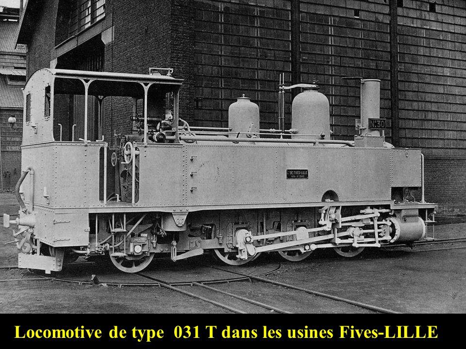 Locomotive de type 031 T dans les usines Fives-LILLE