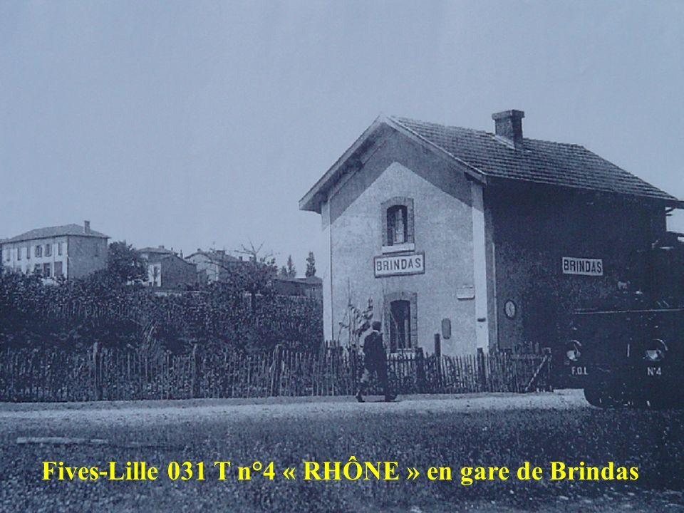 Fives-Lille 031 T n°4 « RHÔNE » en gare de Brindas