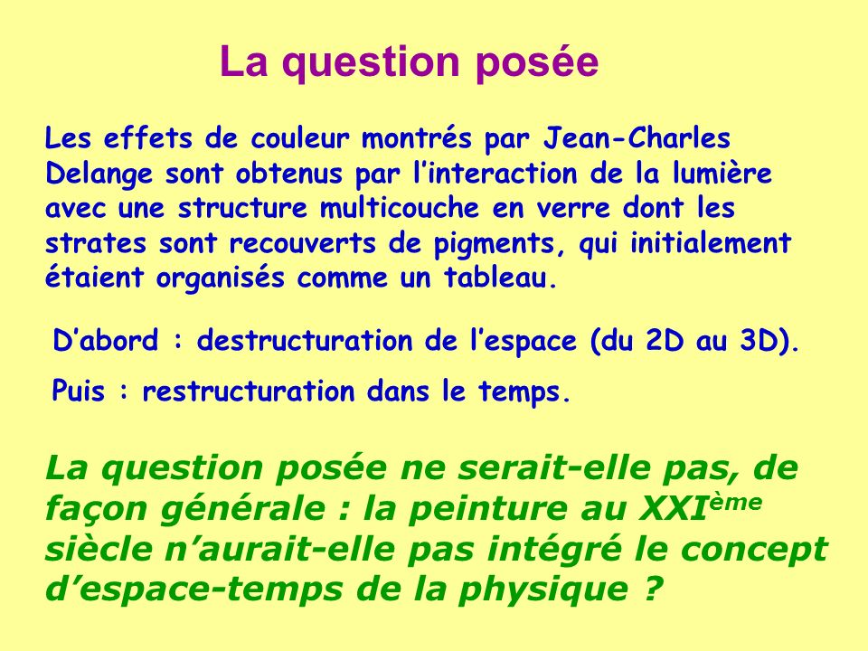 La question posée