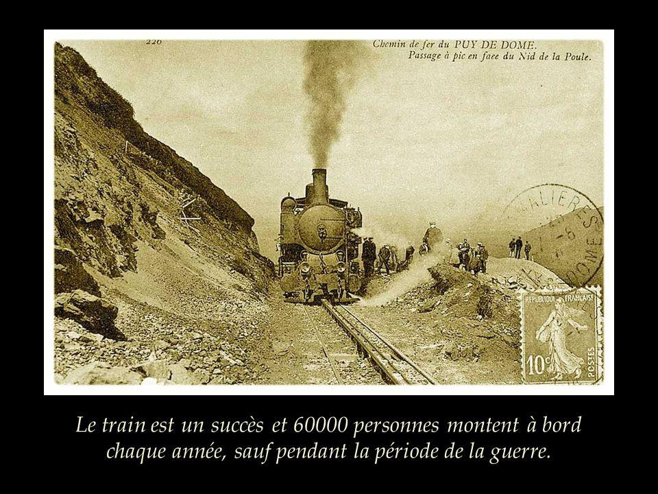 Le train est un succès et 60000 personnes montent à bord chaque année, sauf pendant la période de la guerre.
