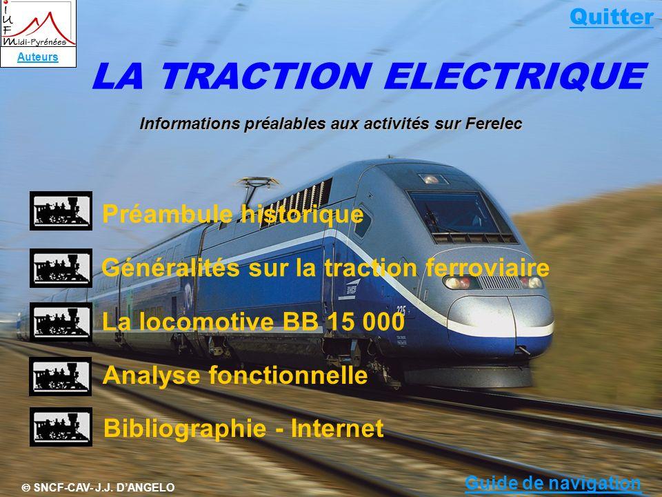 LA TRACTION ELECTRIQUE