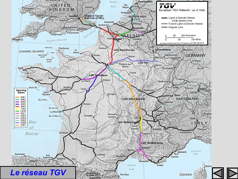 Le réseau TGV