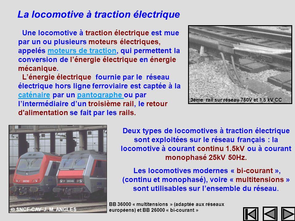 La locomotive à traction électrique