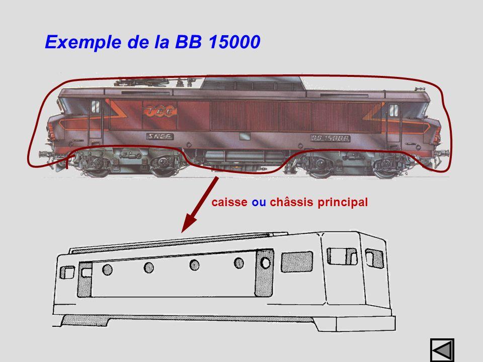Exemple de la BB 15000 caisse ou châssis principal