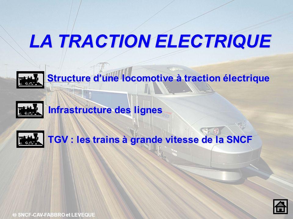 LA TRACTION ELECTRIQUE  SNCF-CAV-FABBRO et LEVEQUE