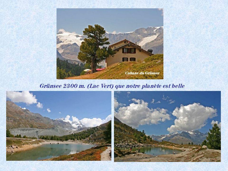 Grünsee 2300 m. (Lac Vert) que notre planète est belle