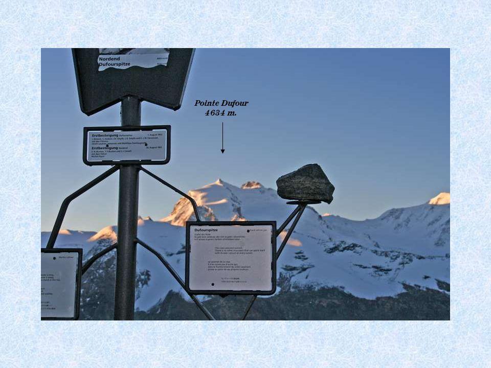 Pointe Dufour 4634 m.