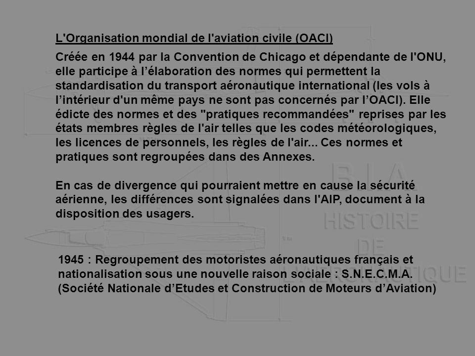 L Organisation mondial de l aviation civile (OACI)