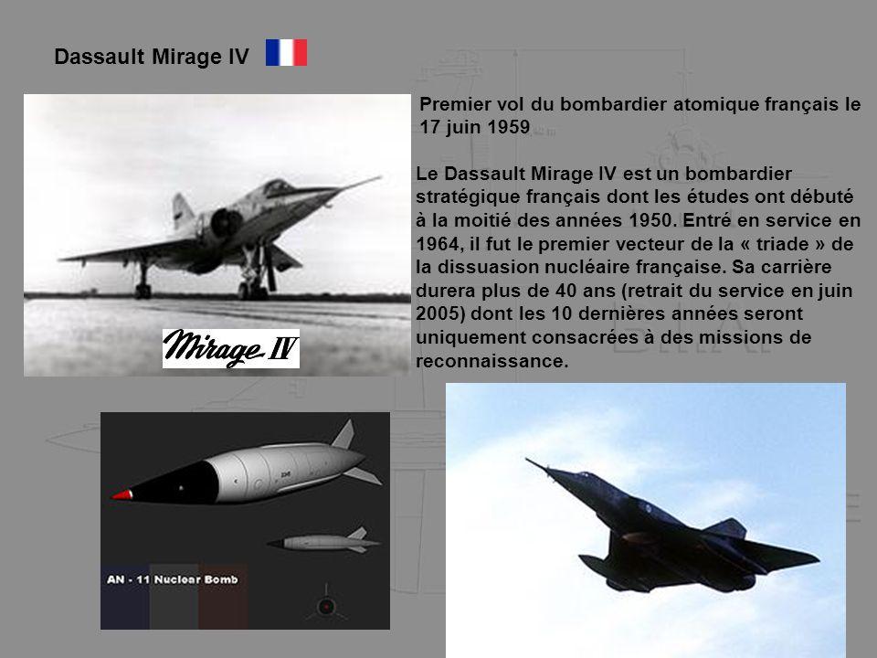 Dassault Mirage IV Premier vol du bombardier atomique français le 17 juin 1959.