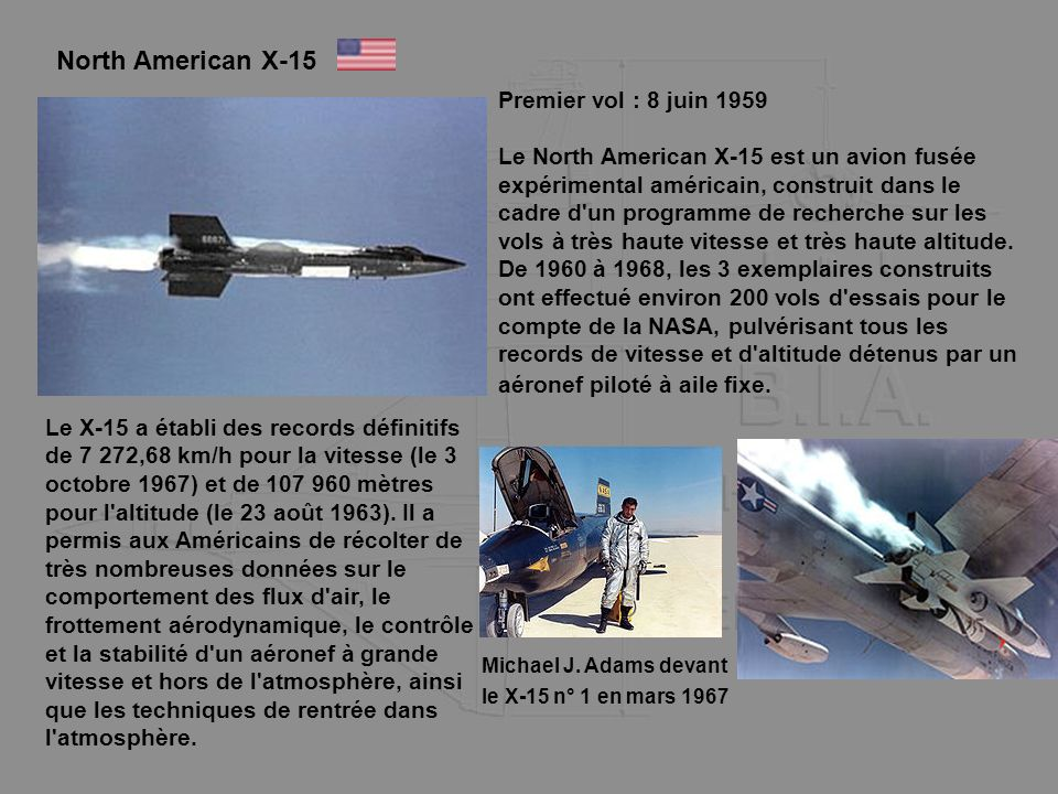 North American X-15 Premier vol : 8 juin 1959