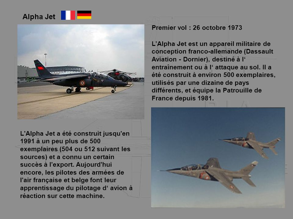 Alpha Jet Premier vol : 26 octobre 1973