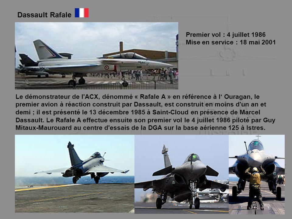 Dassault Rafale Premier vol : 4 juillet 1986