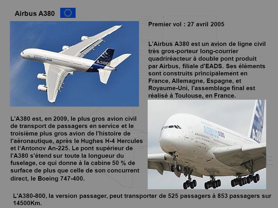 Airbus A380 Premier vol : 27 avril 2005