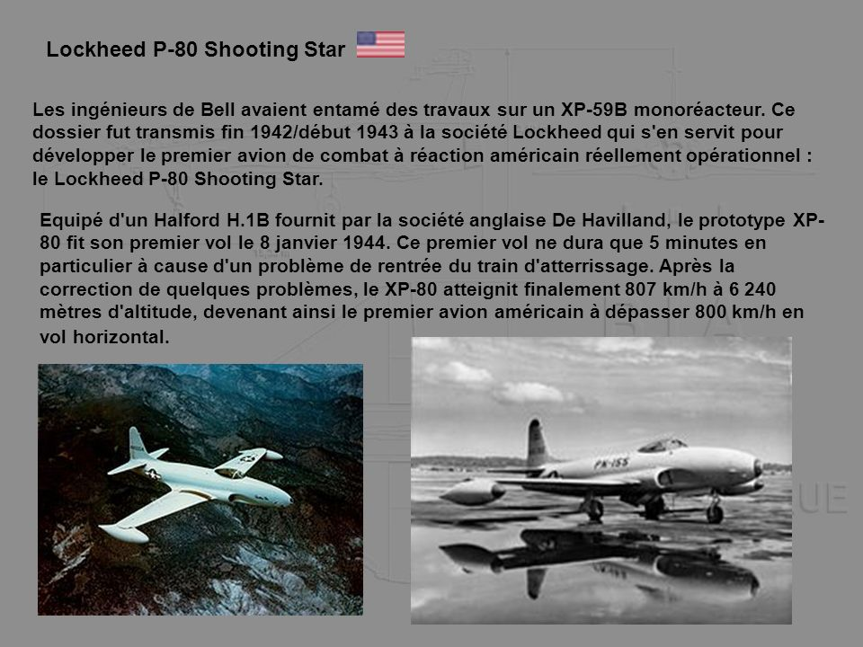 Lockheed P-80 Shooting Star