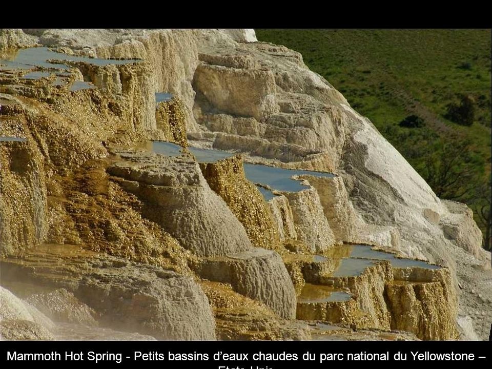Mammoth Hot Spring - Petits bassins d'eaux chaudes du parc national du Yellowstone – Etats-Unis