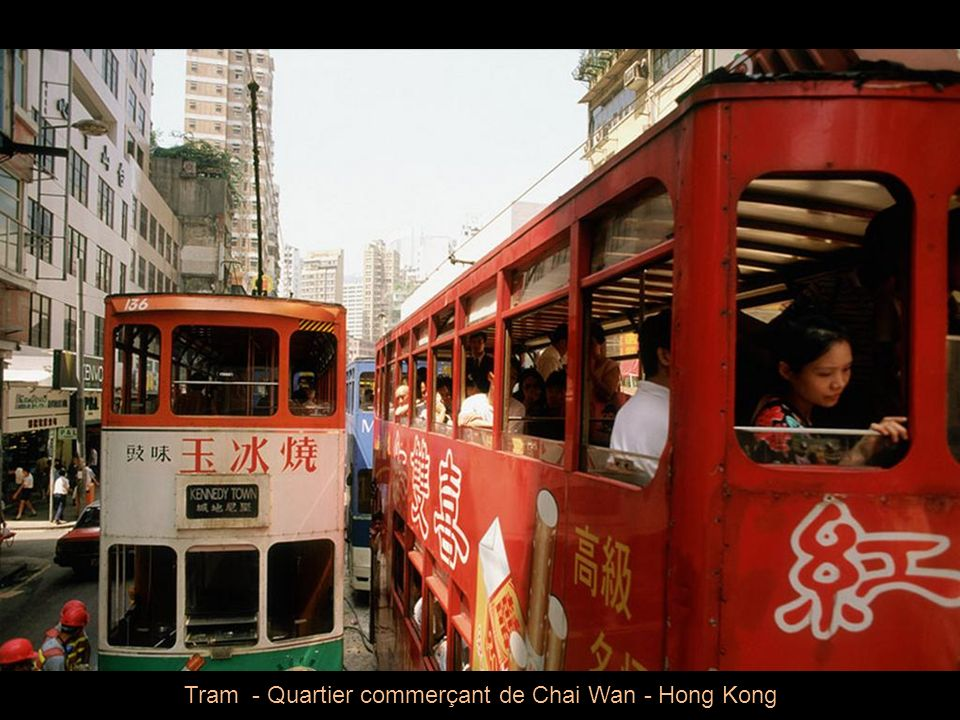 Tram - Quartier commerçant de Chai Wan - Hong Kong