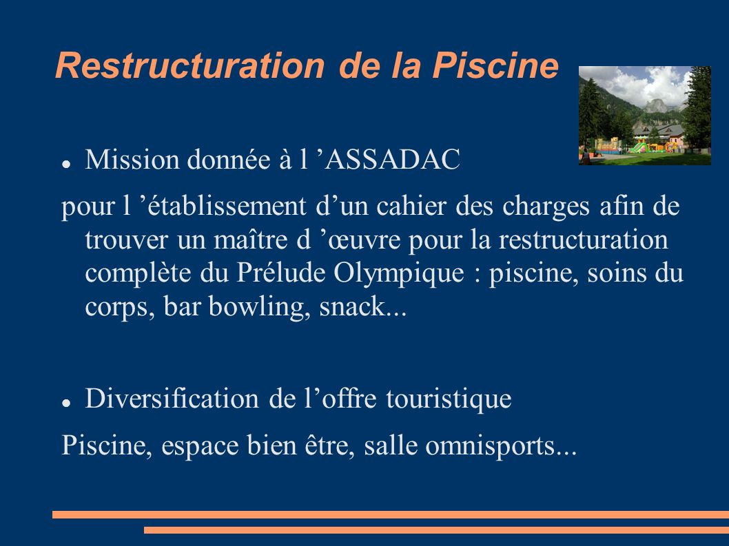 Restructuration de la Piscine
