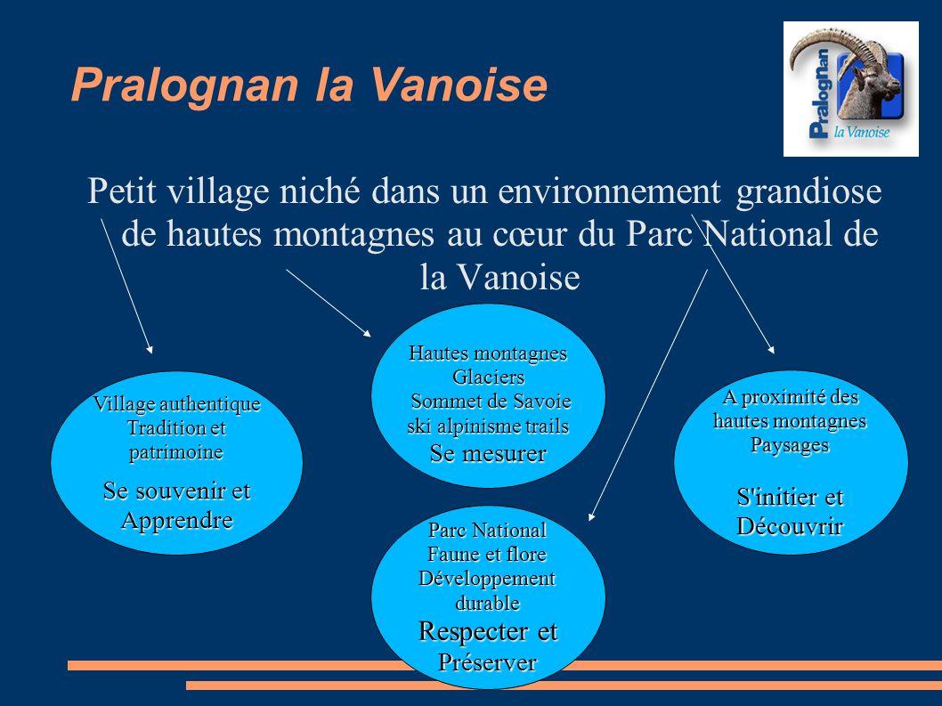 Pralognan la Vanoise Petit village niché dans un environnement grandiose de hautes montagnes au cœur du Parc National de la Vanoise.