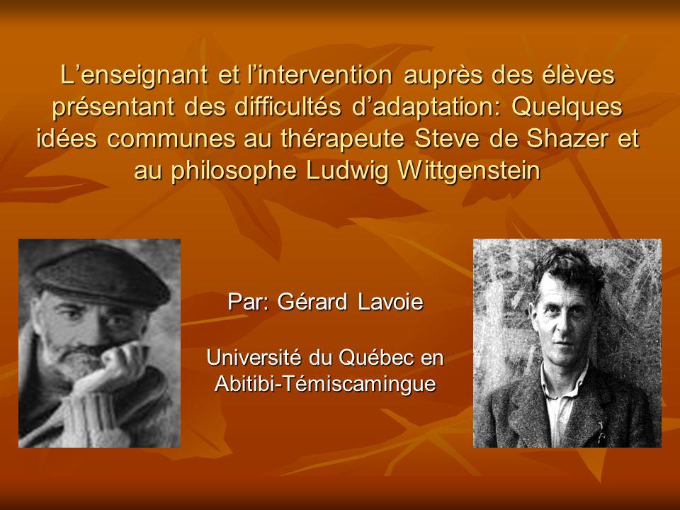 Par: Gérard Lavoie Université du Québec en Abitibi-Témiscamingue